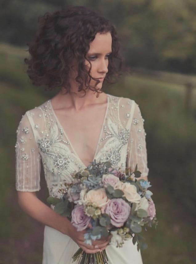 Wedding Dress & Bride Wiltshire barn wed