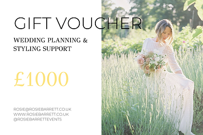 Gift Voucher - Wedding Planning Dorset,