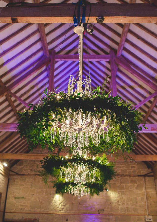 Ashley Wood Farm Wedding Barn Lighting -