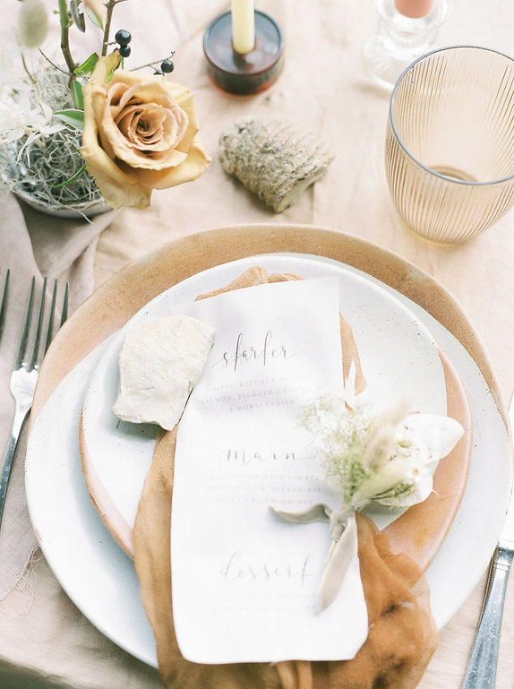 Wedding Table setting - Rosie Barrett Wedding planner & Stylist