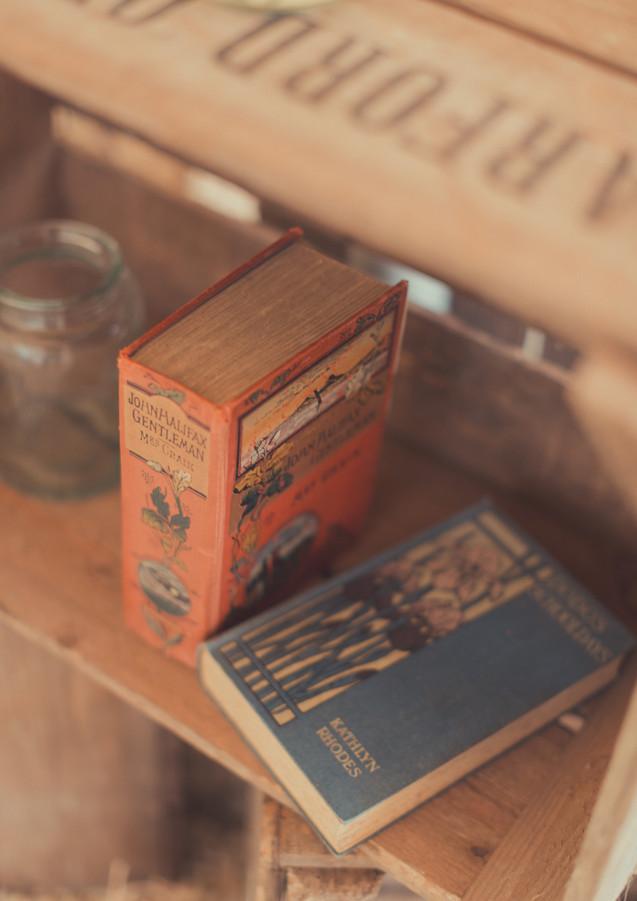 Vintage Books, Wedding Styling and Desig