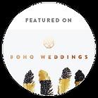 Boho Weddings blog post including @coast