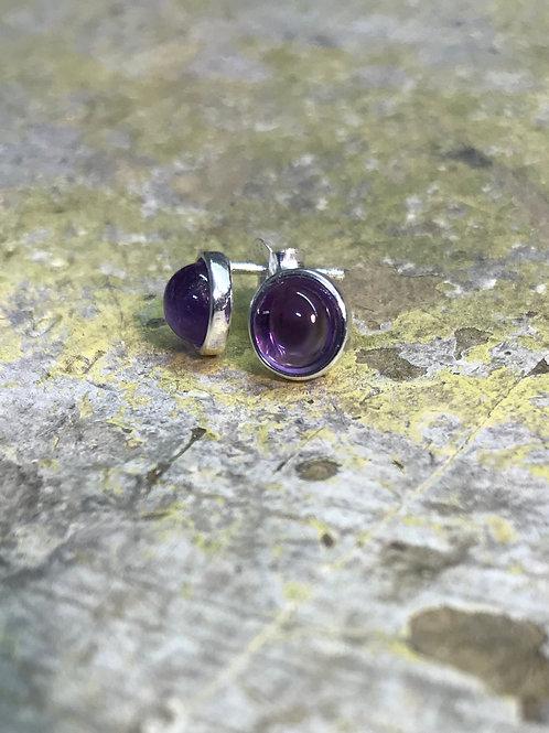 Silver Amethyst Earrings