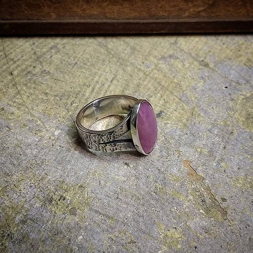 Silver and Pink Sapphire ring