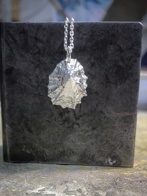 Large Limpet Sterling Silver Pendant