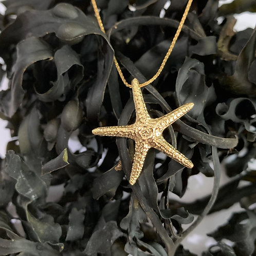 9ct Gold Starfish Pendant