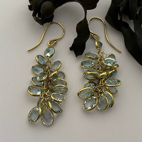 Aquamarine Earrings - 9ct Gold   T4704
