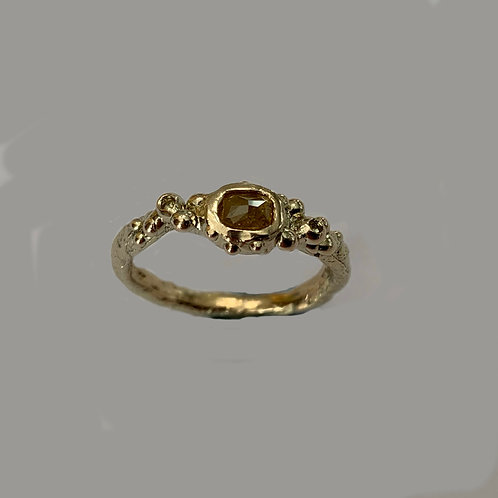 Yellow Diamond Ring in 9 ct Gold