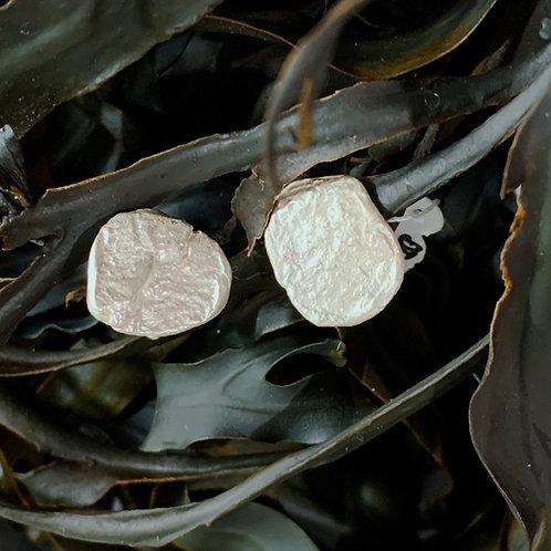 Pebble Stud Earrings - Sterling Silver