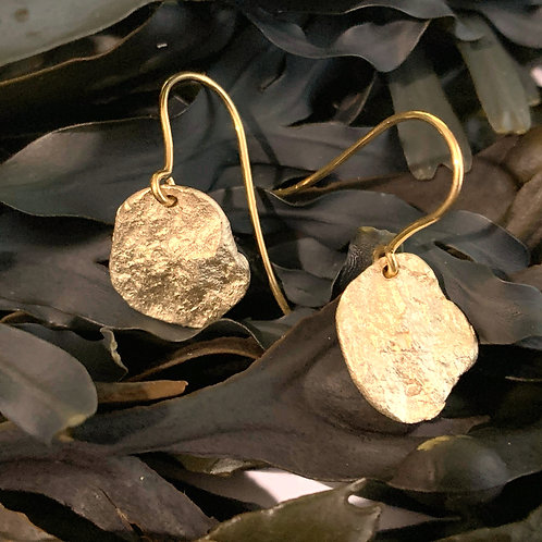 Pebble drop Earrings - 9ct Gold