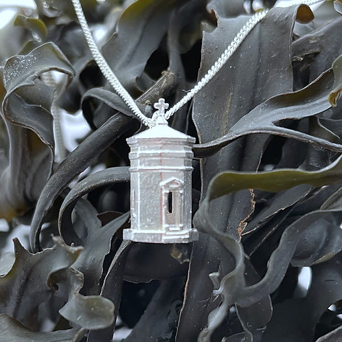 The Bude Storm Tower 15mm Pendant - Sterling Silver 925