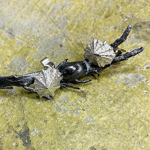 Silver Limpet Earrings