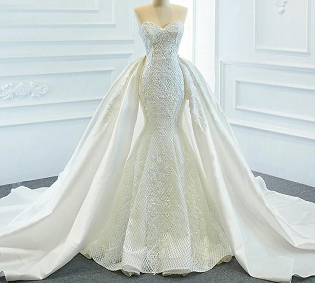 Detachable wedding dress