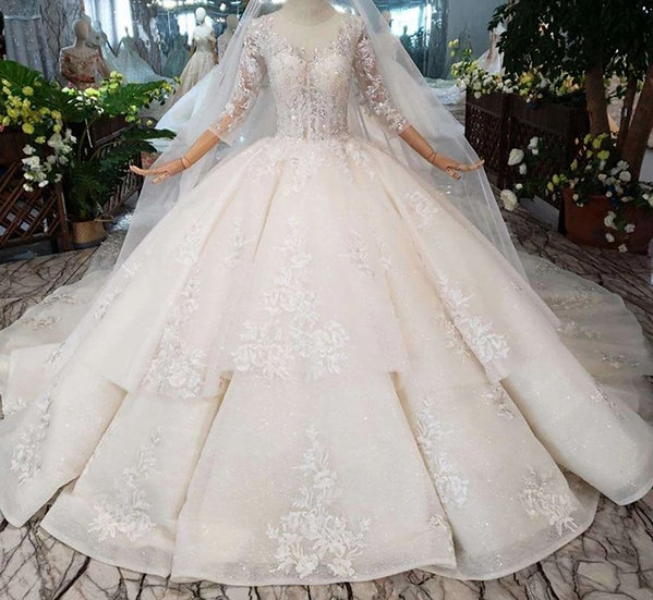 Luxury long sleeve gown