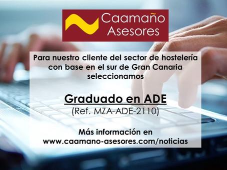 Proceso de Selección - Graduado en ADE (Ref. MZA-ADE-2110)