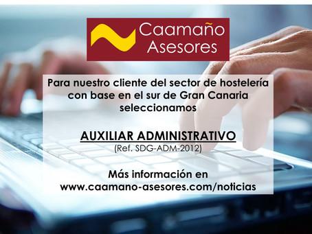 Proceso de Selección - Auxiliar Administrativo (Ref. SDG-ADM-2012)