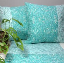 cushion batik tosca