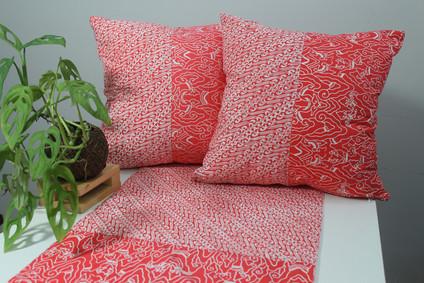 cushion batik orange