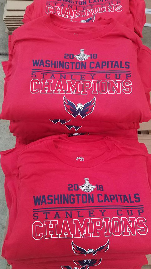 Washington Capitals Stanley Cup Champion T-Shirts