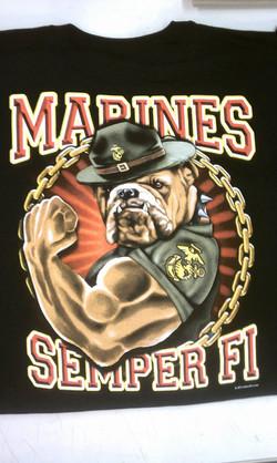 Marines Puff Ink Screen Print