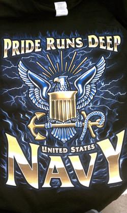Navy Puff Ink Screen Print