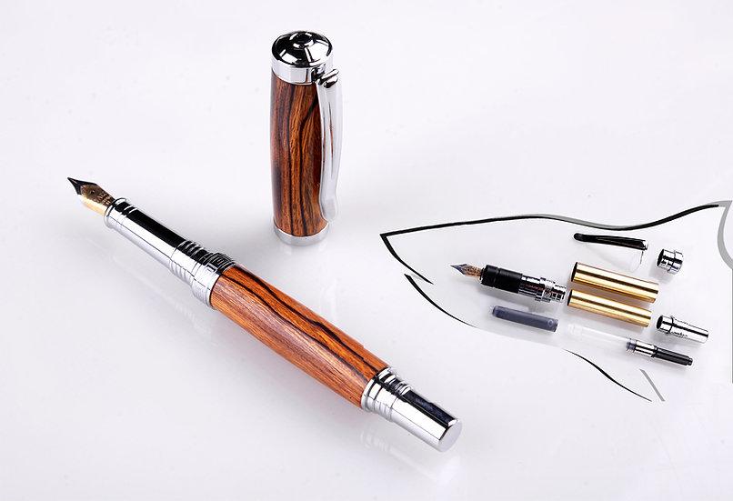 Churchill Fountain Pen Kit - chrome