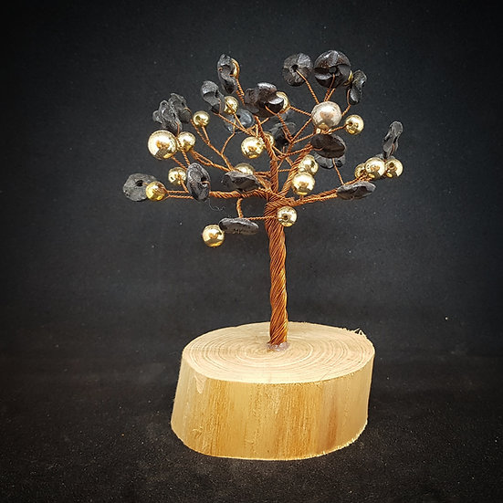 Gold and black tree