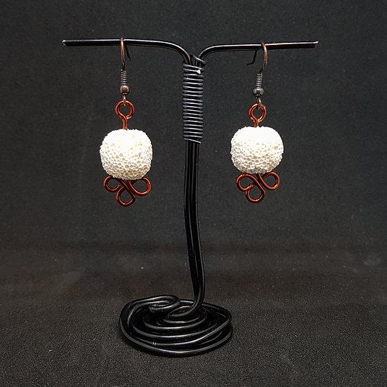 White lava earrings
