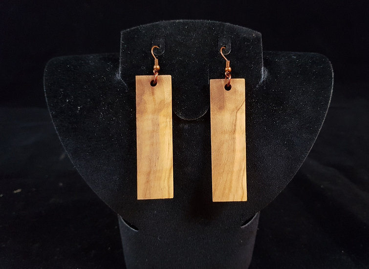 Copy of Olive wood earrings #10