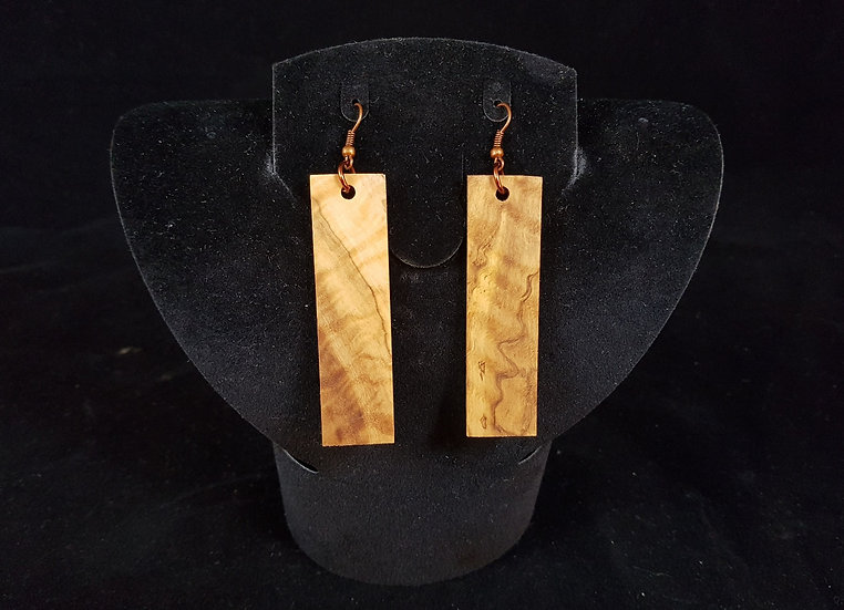 Olive wood earrings #3