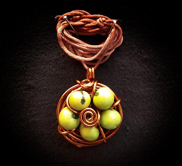 Wire nest pendant ! #5.1