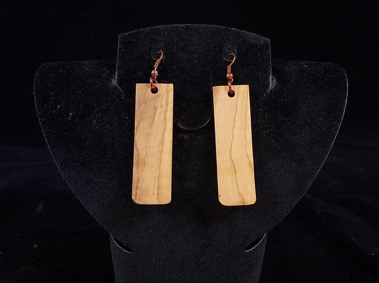 Olive wood earrings #7