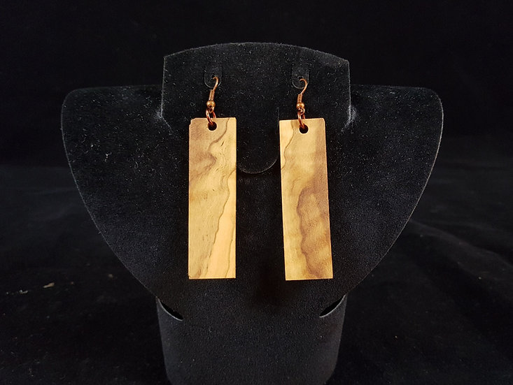 Olive wood earrings #9