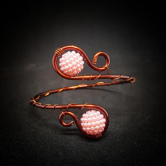 Pink wire bracelet