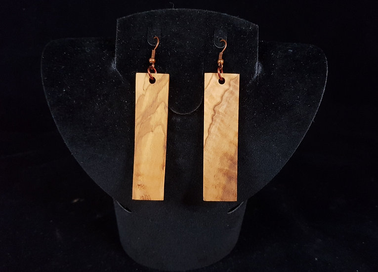 Olive wood earrings #5
