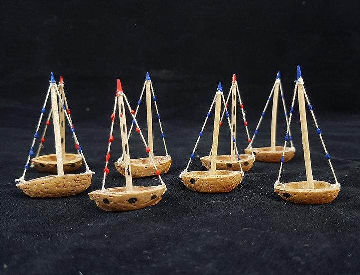 Almond happy little sail boat