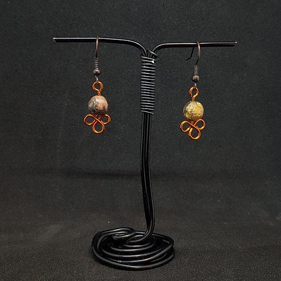 Picasso jasper earrings