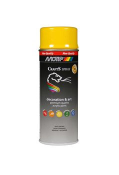 YELLOW SPRAY CRAFTS MOTIP 400ml