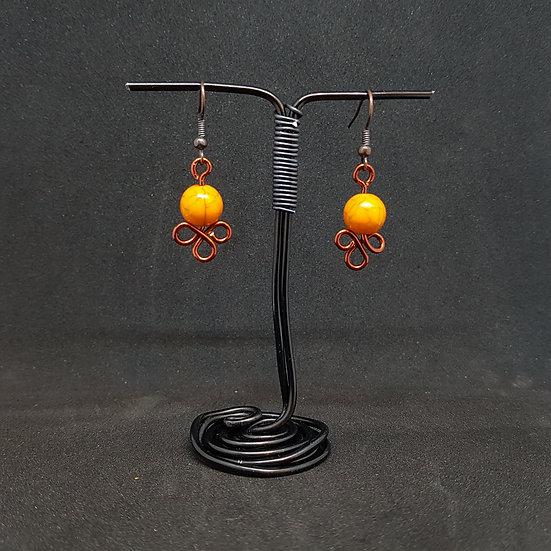 Orange acrylic earrings