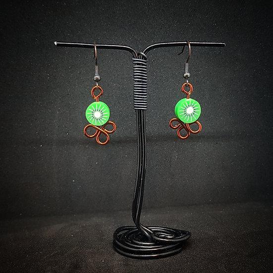 Frutti fimo earrings