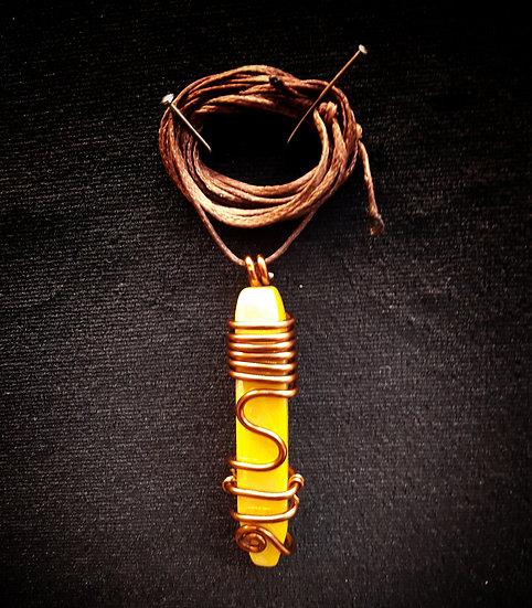 Sea shell wire wrap pendant ! #8