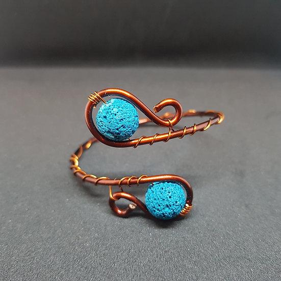 Blue lave bead wire bracelet !