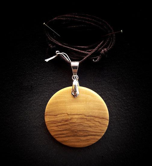 """Olive wood pendant """"ocean waves"""""""