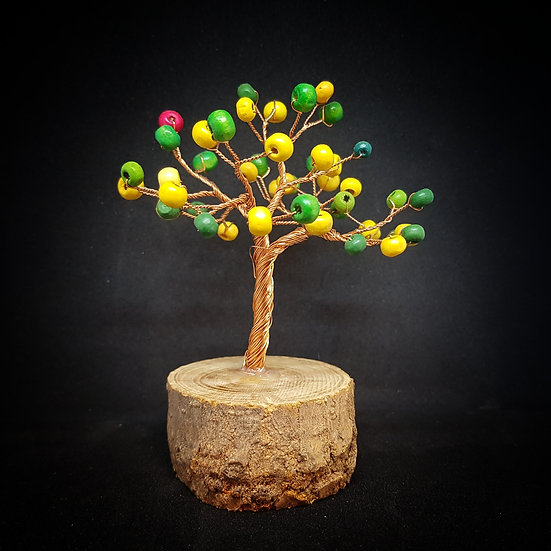 Yellow and green wire tree
