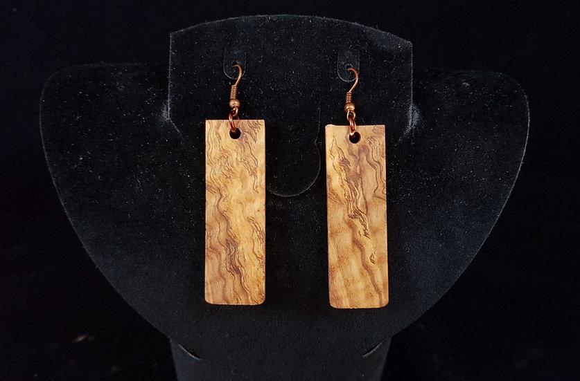 Olive wood earrings #6