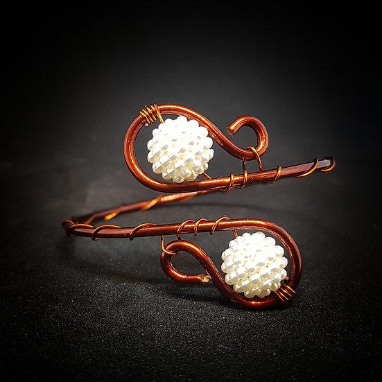 White wire bracelet