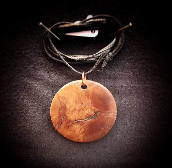 Briar root pendant !!
