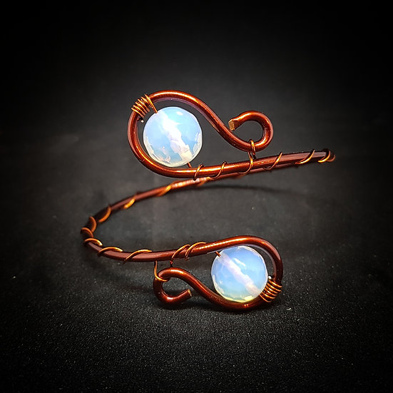 Moonstone diamond shape bracelet