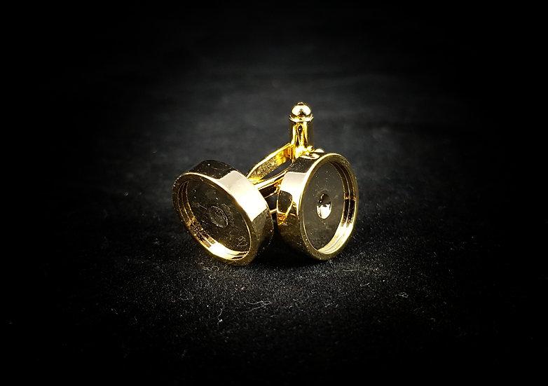 24k gold cufflink set