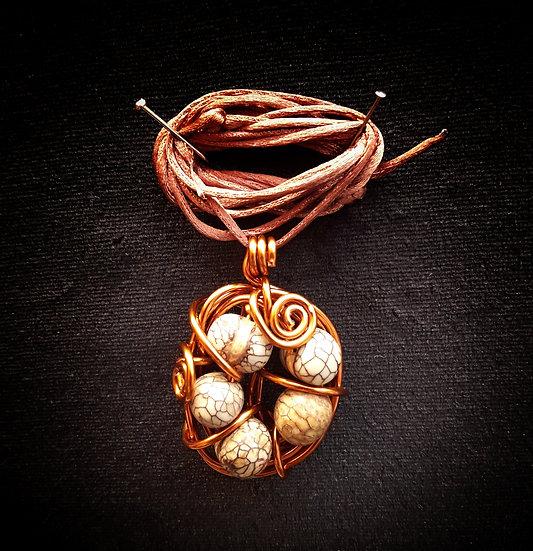 Wire nest pendant #7